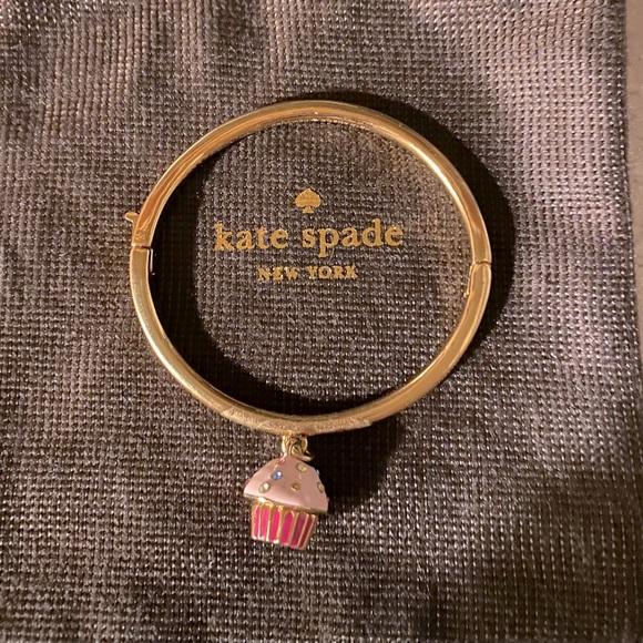 Kate Spade Take the Cake Cupcake Gold Bangle